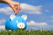 Piggy bank, image via Shutterstock