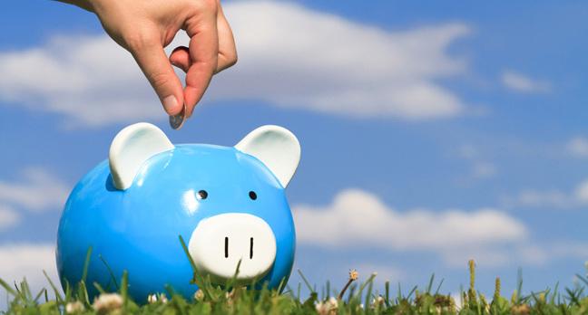 Piggy bank, image via Shutterstock