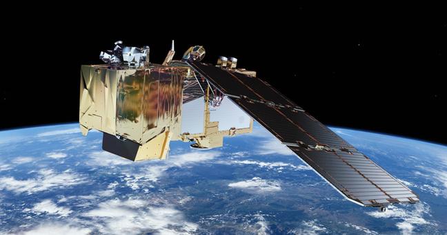 Artist's rendering of a Sentinel-2 satellite in orbit. ESA / ATG medialab