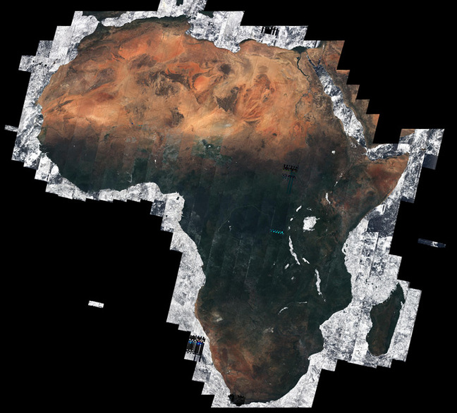 The Sentinel 2-A mosaic of Africa