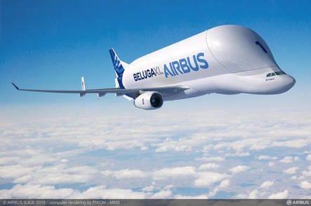 Airbus rendering of the new Beluga XL jetliner