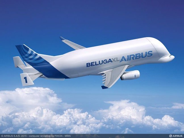 Airbus rendering of the new Beluga XL jetliner