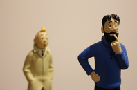 Tintin and Captain Haddock. Pic by Thibaut Démare, licensed under cc 2.0