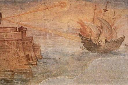Archimedes Mirror, Giulio Parigi