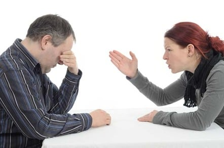 Teen argues with her father. Photo by Shutterstock