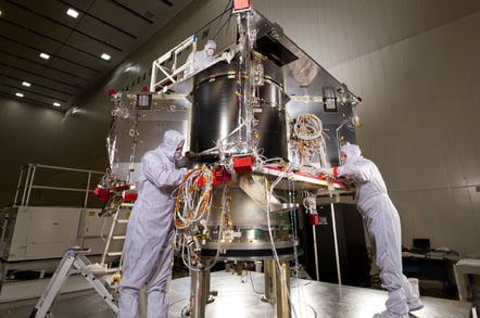 OSIRIS-REx during construction. PIC: NASA