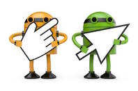 Robots with Cursors from Shutterstock