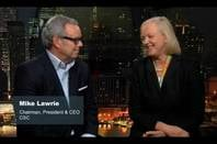 Mark Lawrie of CSC and Meg Whitman of HPE in the video announcing the merger of their services operations