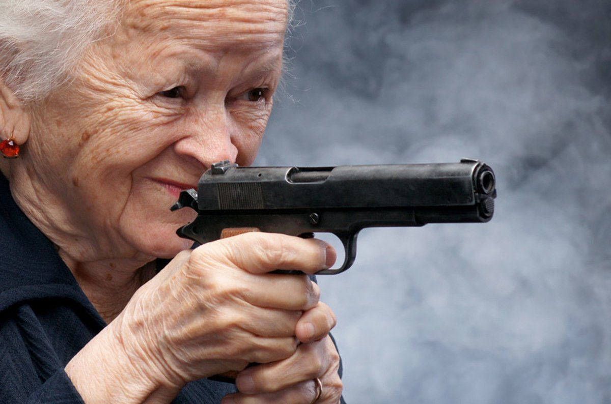 Granny With Gun 21