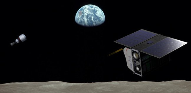 Artist's impression of ArgoMoon and the ICPS. Pic: Argotec