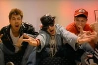 Still from Music video by The Beastie Boys performing (You Gotta) Fight For Your Right (To Party). (C) 1986 The Island Def Jam Music Group