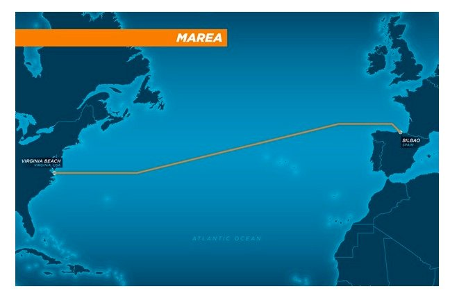 Microsoft and Facebook's 4000-mile transatlantic internet cable Marea is now complete