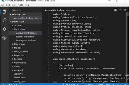 Developing an ASP.NET Core application with Visual Studio Code