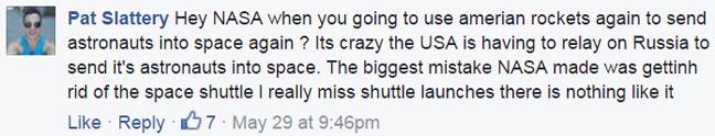 Pat Slattery's Facebook comment