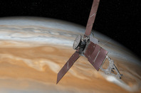 Artist's impression of Juno overflying Jupiter. Pic: NASA / JPL-Caltech