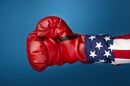US boxing glove, photo via Shutterstock