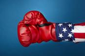 US boxing glove, photo via Shutterstock