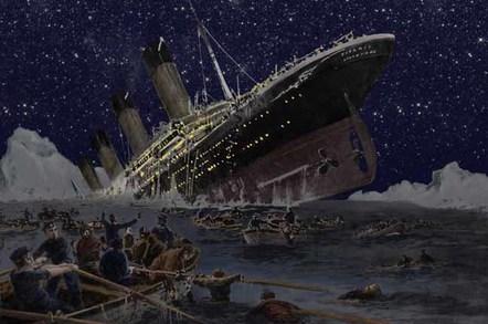 Titanic, image via shutterstock