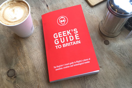 Geeks Guide book on coffee table, photo The Register