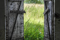 Open barn door