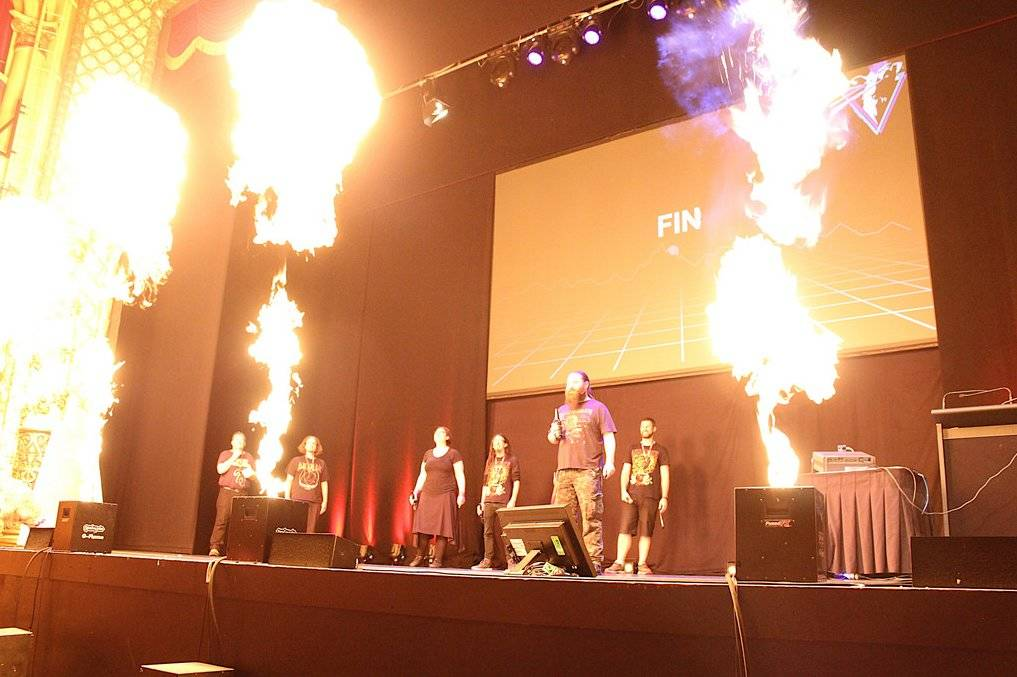 Pyrotechnics at Kiwicon 8