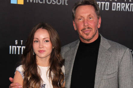 Larry Ellison and Nikita Khan
