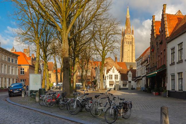 Walplein square in Bruge. Pic: Shutterstock