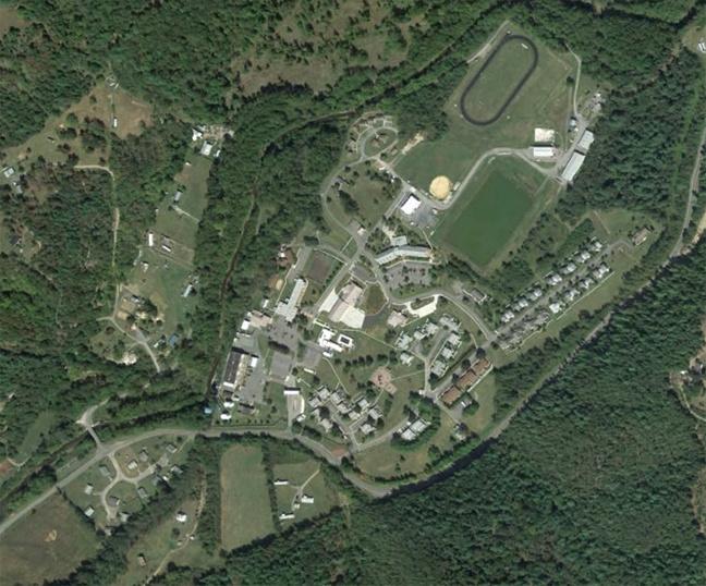 Sugar Grove Station seen on Google Earth