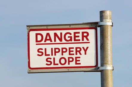 Slippery slope sign