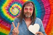 Hippie peace, image via Shutterstock