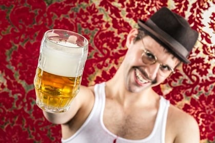 Man drinks Beer. Photo by shutterstock