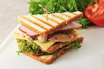 Picture of multi-layered sandwich. Photo by Shutterstock