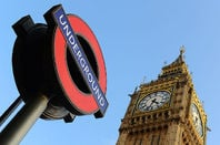 Big Ben and Underground sign. Pic: Crown copyright/MoD