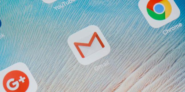 Gmail icon photo by I AM NIKOM via Shutterstock