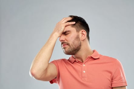 Facepalm2, photo via Shutterstock