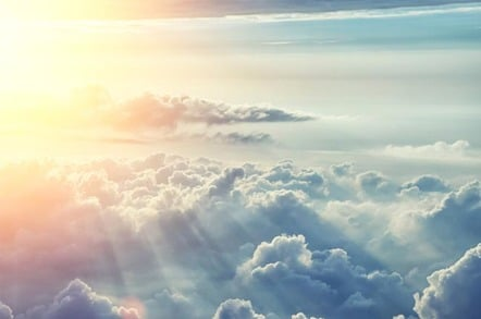 Sun shines on the clouds. Photo by Shutterstock