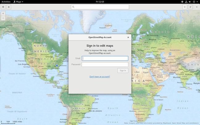Gnome 3.2 Maps