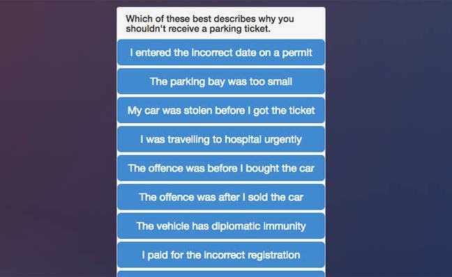 Chatbot lawyer shreds $2.5m in parking tickets