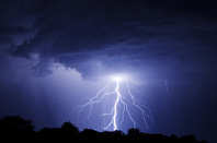 Lightning, photo via Shutterstock