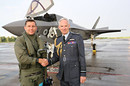 The first RAF F-35B Lightning II to land in the UK. Crown copyright