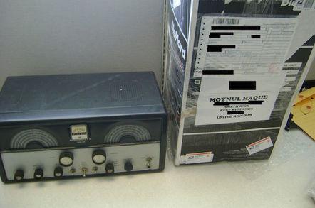 Gun parts were hidden in an antique radio
