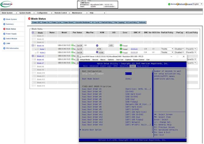 Supermicro MicroBlade CMM with iKVM open