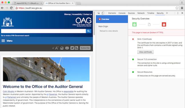 WA Auditor General security fail