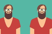 Bearded hipster twins - illustration