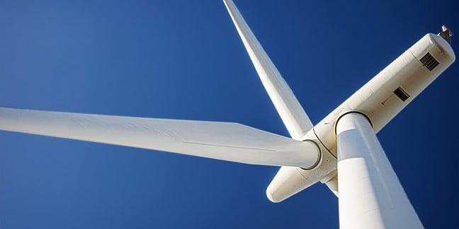 Wind turbine, image via Shutterstock