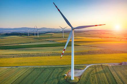 Wind turbines, image via Shutterstock