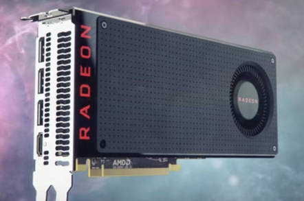 AMD Radeon RX 480 card