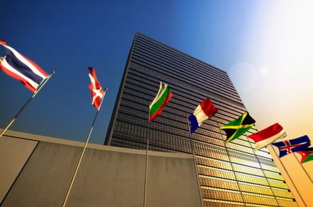 UN building, photo via Shutterstock