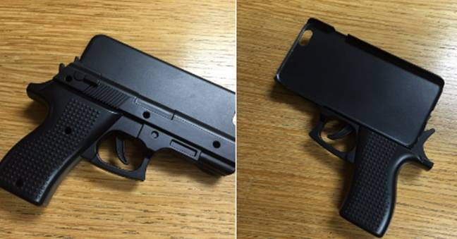 Passenger carrying a gun-shaped phone case stopped at Stansted Airport