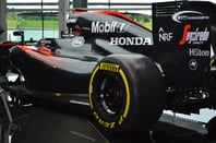 Mclaren F1 car with NTT logo